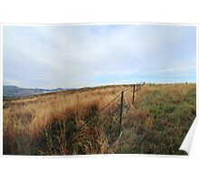 Barbed Wire Fence - Mt Parnassus Poster