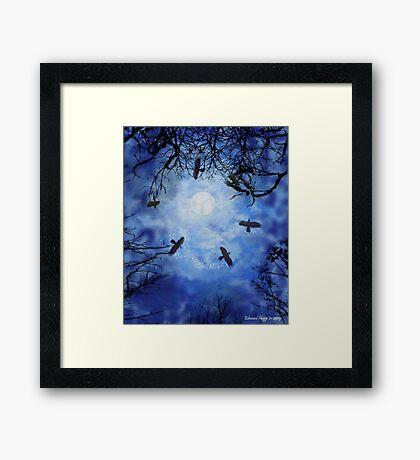 Halloween Witch Hunt Framed Print