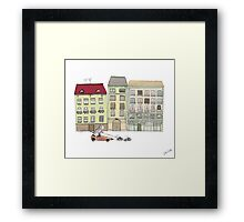Budapest and the wandering cat Framed Print