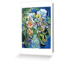 EFFUSIVE BOUQUET AT SEASIDE, OUTSIDE,  NIGHT Greeting Card