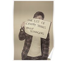Youth culture false portrayal Poster