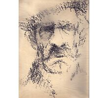'The Old Man' rendered drawing on paper with stamp. Photographic Print