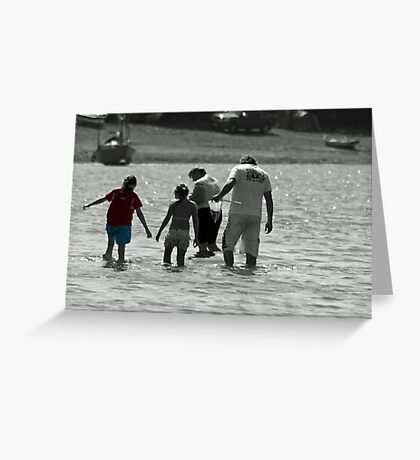 family at devon valley Greeting Card