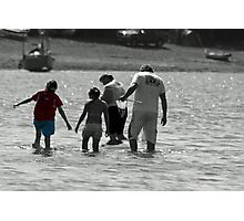 family at devon valley Photographic Print