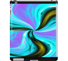 Swirly flower abstract artwork iPad Case/Skin