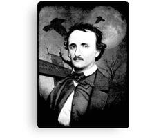 Edgar Poe Graveyard  Canvas Print