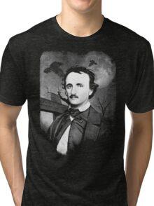 Edgar Poe Graveyard  Tri-blend T-Shirt