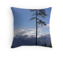 Overlooking Stubaier Alps  Throw Pillow