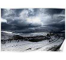 Winter over Ripponden Poster