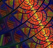 Stained Glass - Fractal Style by Lyle Hatch