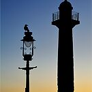 Whitby lighthouse in sillouette by Ian Snowdon /     www.downtoearthimages.co.uk