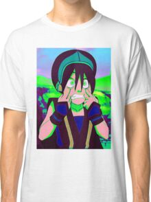 Toph Beifong - psychedelic friendly reminder that she's blind Classic T-Shirt