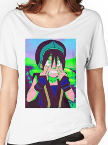 Toph Beifong - psychedelic friendly reminder that she's blind Women's Relaxed Fit T-Shirt