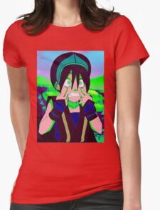 Toph Beifong - psychedelic friendly reminder that she's blind Womens Fitted T-Shirt