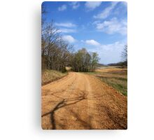 The Story about The DIRT ROAD....... Canvas Print
