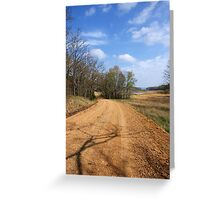 The Story about The DIRT ROAD....... Greeting Card
