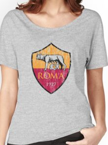 Roma 1927 Distressed Logo - Men's and Women's Women's Relaxed Fit T-Shirt