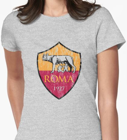 Roma 1927 Distressed Logo - Men's and Women's Womens Fitted T-Shirt