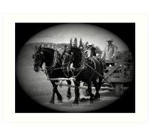 The Black Team II, The Bar U Ranch Art Print
