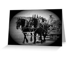 The Black Team II, The Bar U Ranch Greeting Card