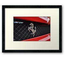 Ferrari F430 Prancing rear Framed Print