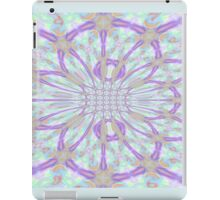 Purple Abstract Floral Artwork iPad Case/Skin