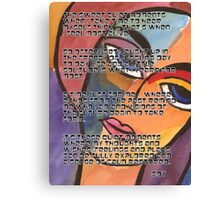 Visual Journal Entry Canvas Print