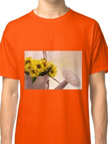 Watering Can Daisies Classic T-Shirt