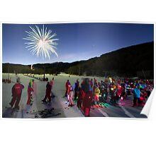 kiddy fireworks - thredbo, nsw Poster