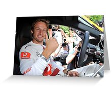 Jenson Button - Goodwood Festival of Speed 2010 Greeting Card