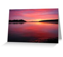 Another Sunset Picture Greeting Card