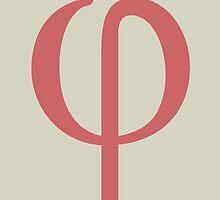 Phi Math Symbol Minimal by Ozgur Kusakoglu