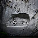 Lion Monument - Lucerne, Switzerland by Laura Cooper