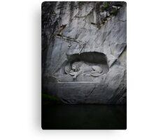 Lion Monument - Lucerne, Switzerland Canvas Print