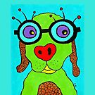 Dog with Glasses by Casey Virata
