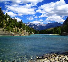 Bow River, Banff, Alberta by Laura Sanders