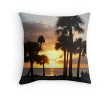 Sunset Beach, Tarpon Springs FL. Throw Pillow
