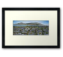 Mullaghmor, The Burren, County Clare - oil painting Framed Print