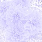 Dahlias In Soft Blue by Sandra Foster