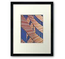 Wacky bricks and glass Framed Print
