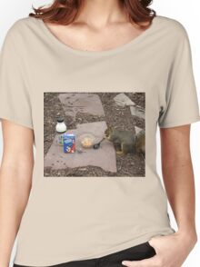 Squirrel Grabbing Grub Women's Relaxed Fit T-Shirt