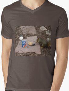 Squirrel Grabbing Grub Mens V-Neck T-Shirt