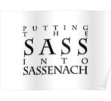 Putting The Sass Into Sassenach Poster