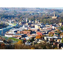 Galena IL. From A Hot Air Balloon On a Cool Fall Morning Photographic Print