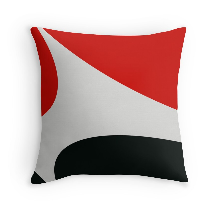 Red Black White Decorative Pillows :