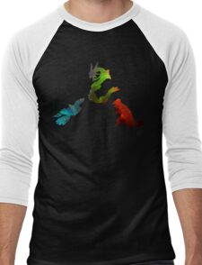 Pokemon- Clash of the Three Titans Men's Baseball ¾ T-Shirt