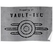 Vault-Tec (Black) Poster