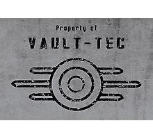 Vault-Tec (Black) Photographic Print