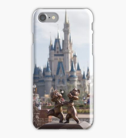 Chip and Dale in Magic Kingdom iPhone Case/Skin