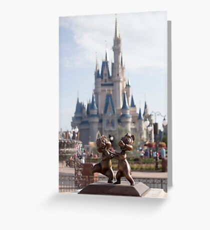Chip and Dale in Magic Kingdom Greeting Card